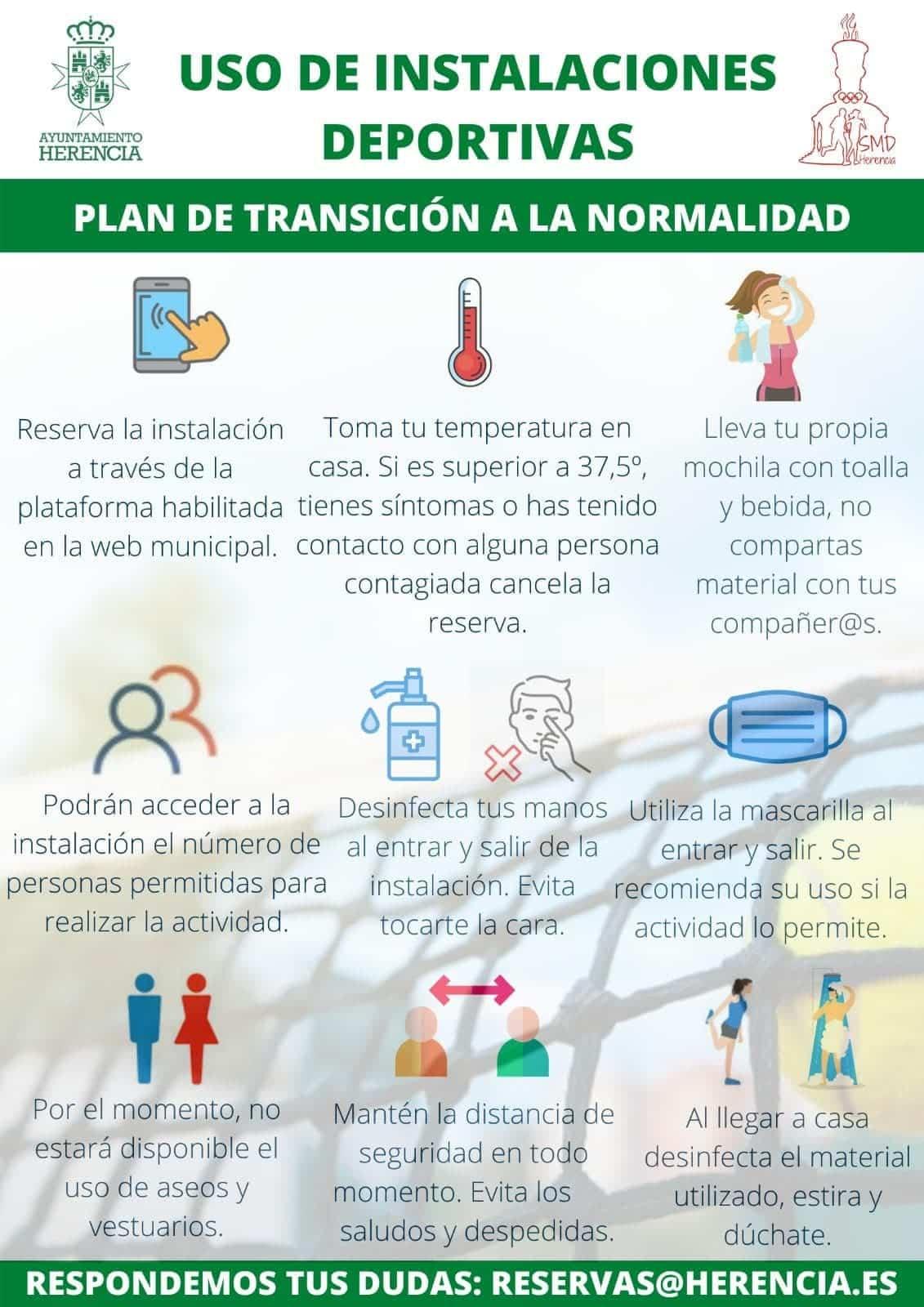 normas deporte herencia plan normalidad - Las pistas de pádel de Herencia vuelven a estar abiertas en fase 2