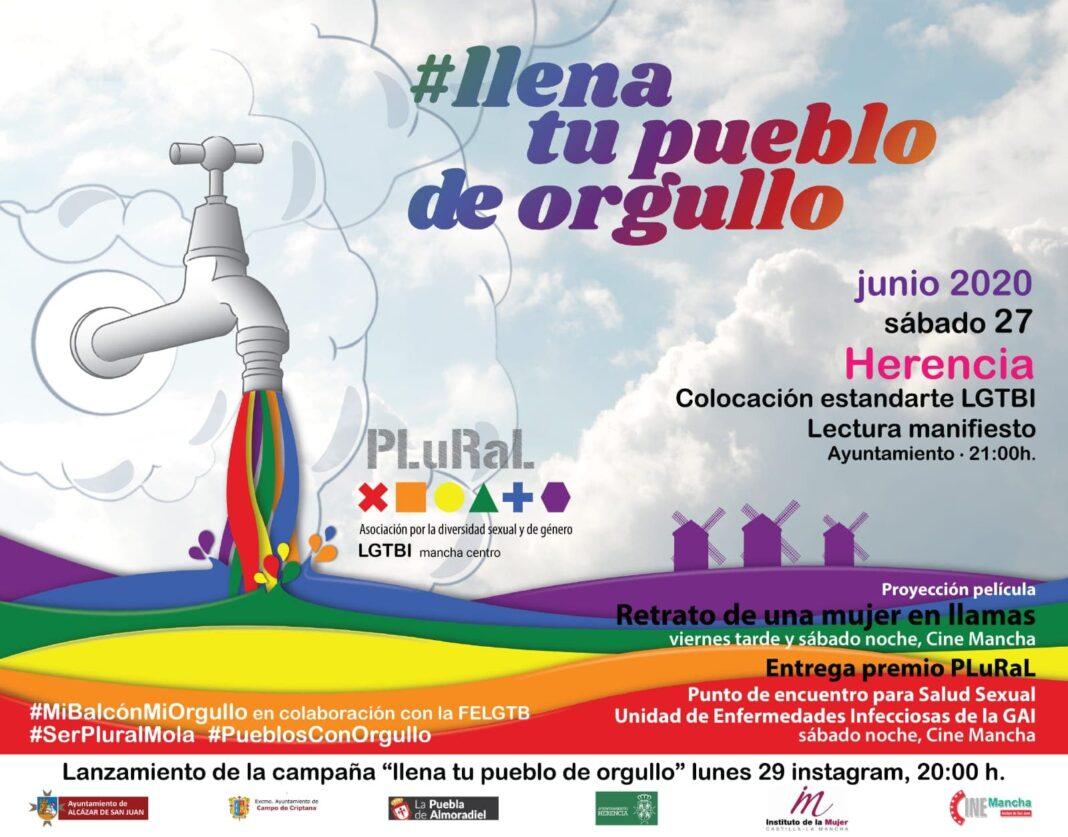 orgullo 2020 herencia 1068x837 - Herencia llena su pueblo de orgullo para reivindiar los derechos de la comunidad LGTBI