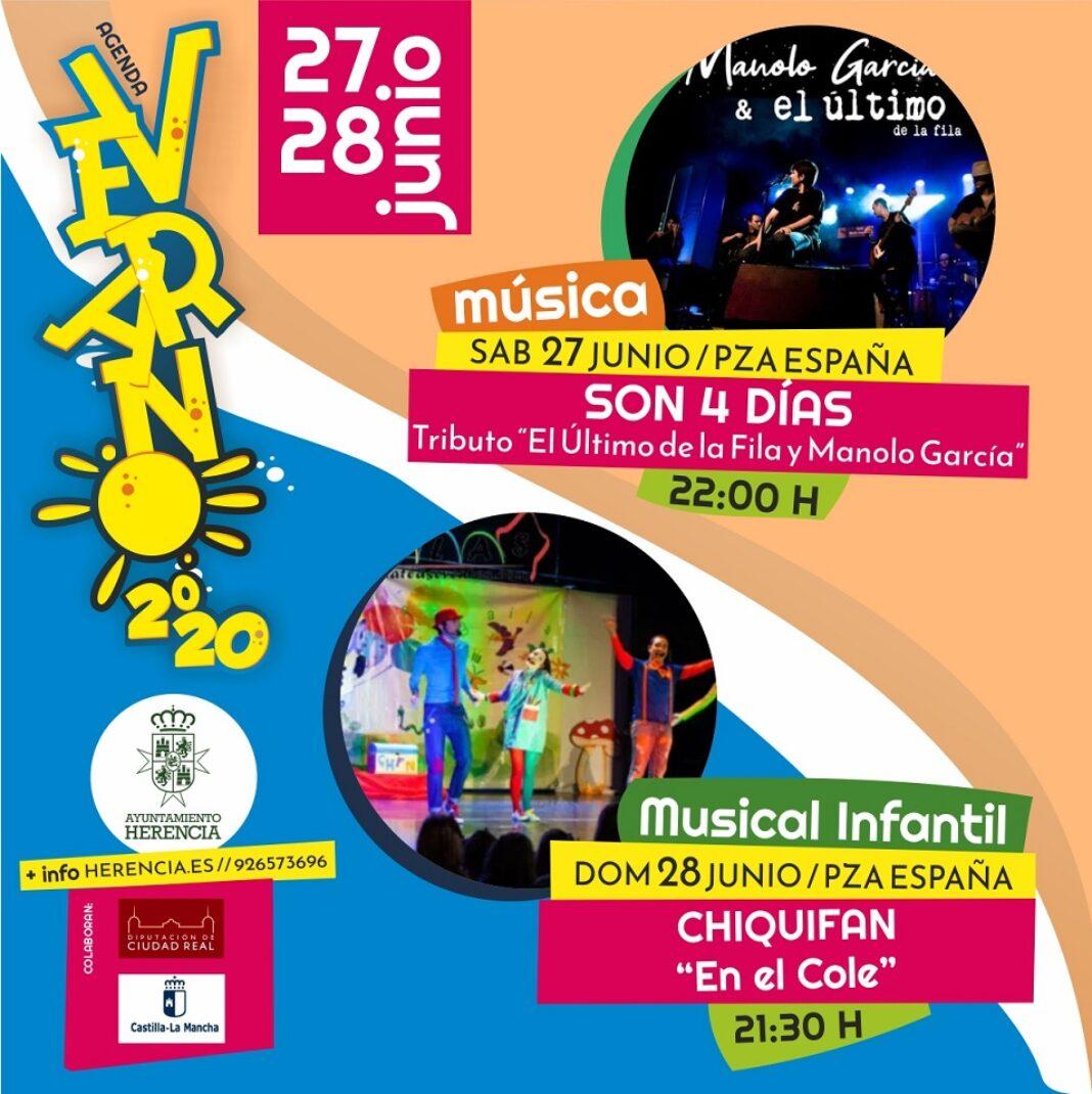 programación de verano Herencia1 1068x1070 - Herencia programa un verano cultural al aire libre para reactivar la economía del municipio