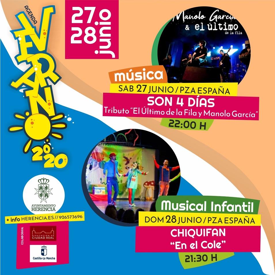programaci%C3%B3n de verano Herencia1 - Herencia programa un verano cultural al aire libre para reactivar la economía del municipio