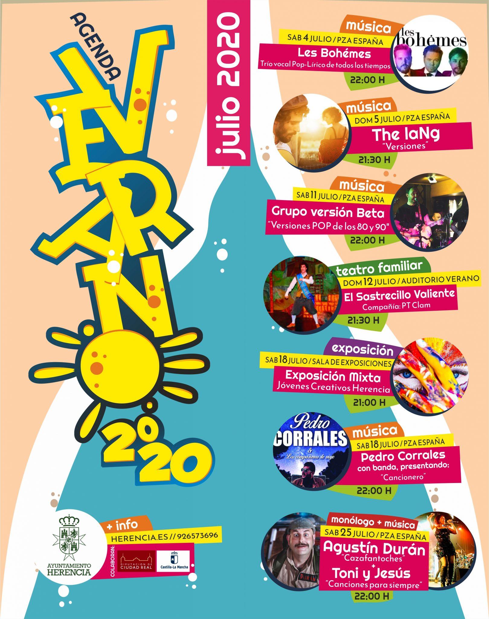 programaci%C3%B3n de verano Herencia12 - Herencia programa un verano cultural al aire libre para reactivar la economía del municipio