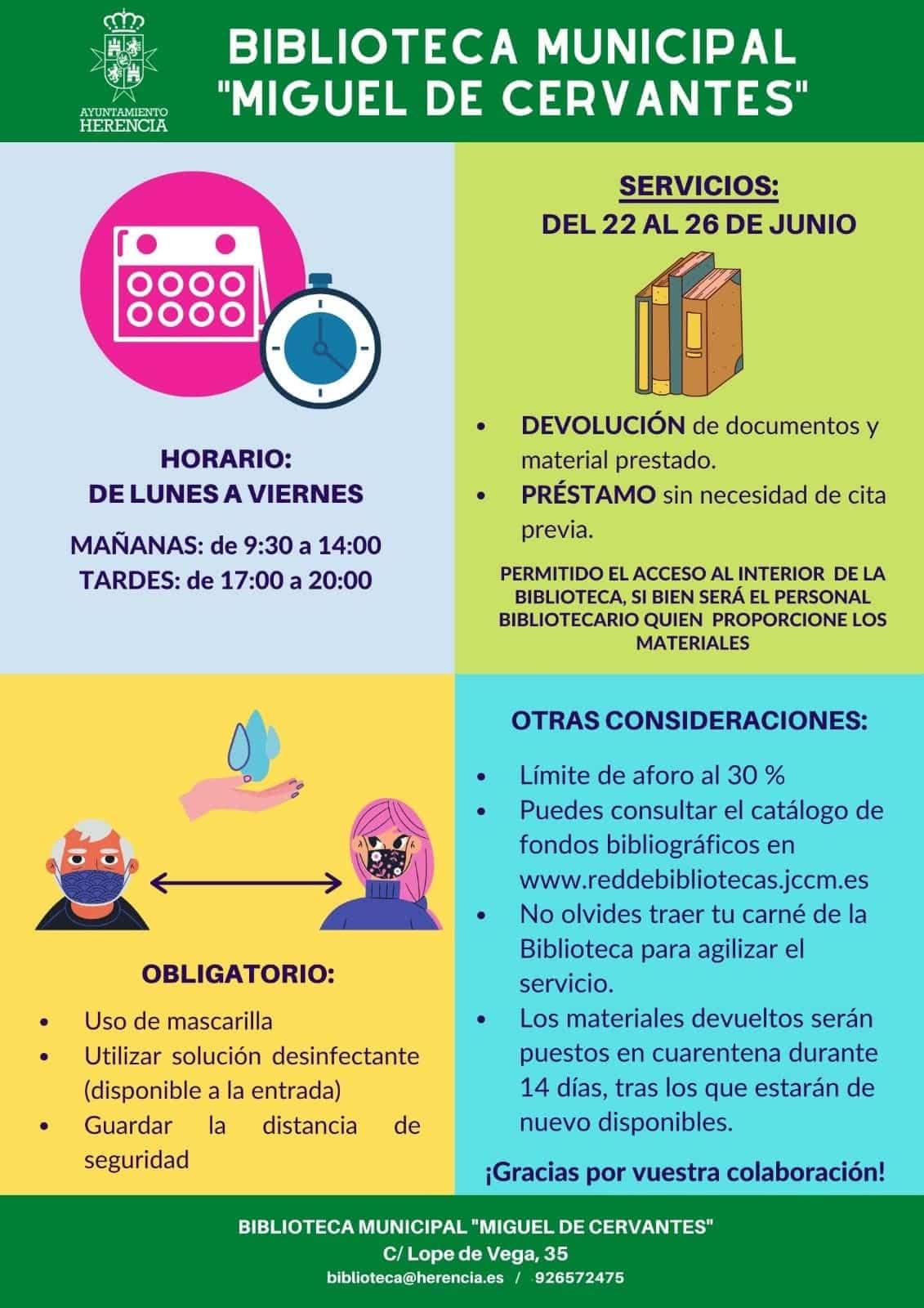 """La Biblioteca Municipal de Herencia hacía la """"nueva normalidad"""" 3"""