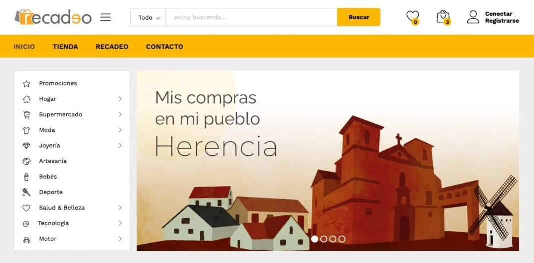 recadeo herencia 1068x526 - La Asociación del Comercio y el Ayuntamiento lanza otra tienda online: Recadeo