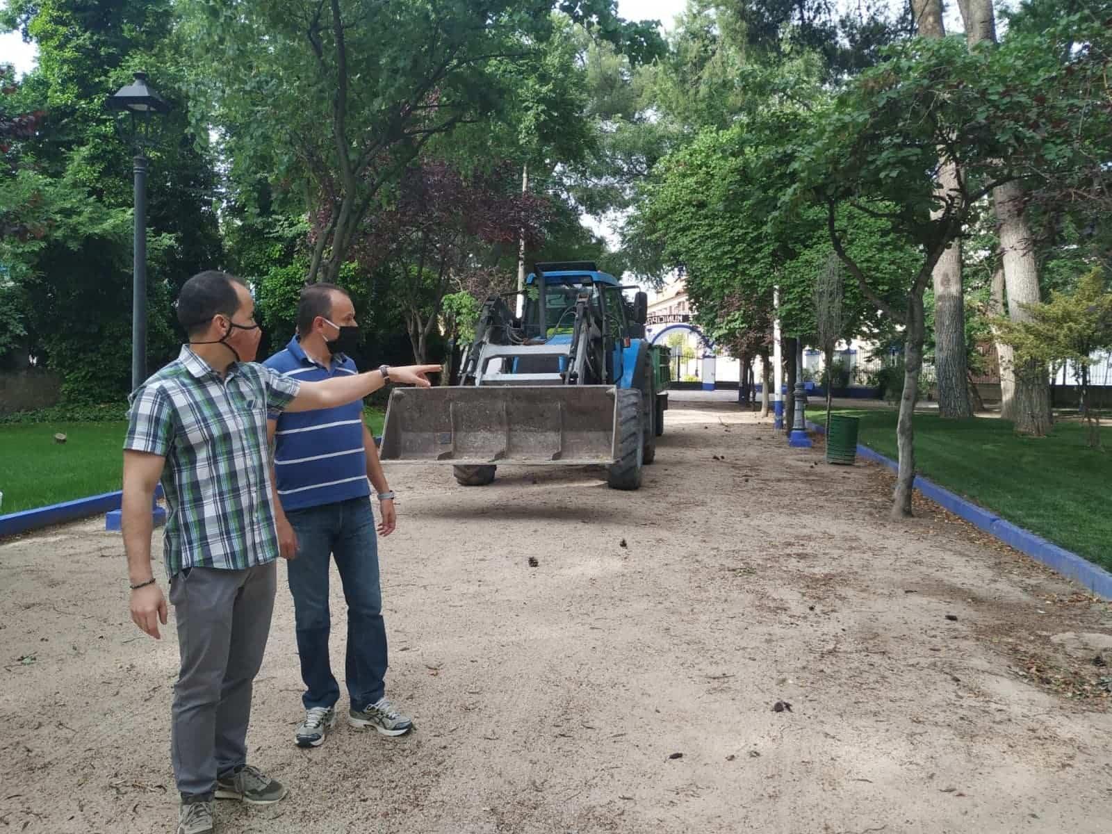 remodelacion parque municipal herencia 3 - El Parque Municipal de Herencia finaliza sus obras de remodelación