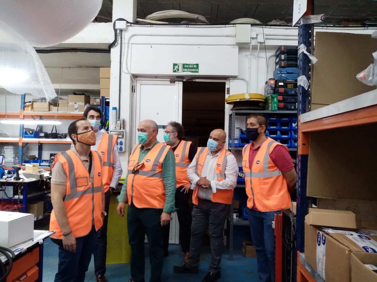 Visita de Alcalde a las instalaciones de TSD Technology & Security Developments 12