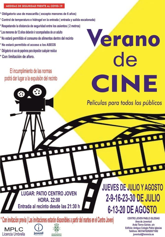 verano cine 2020 joven herencia 1068x1527 - El cine de verano vuelve los jueves en el Centro Joven