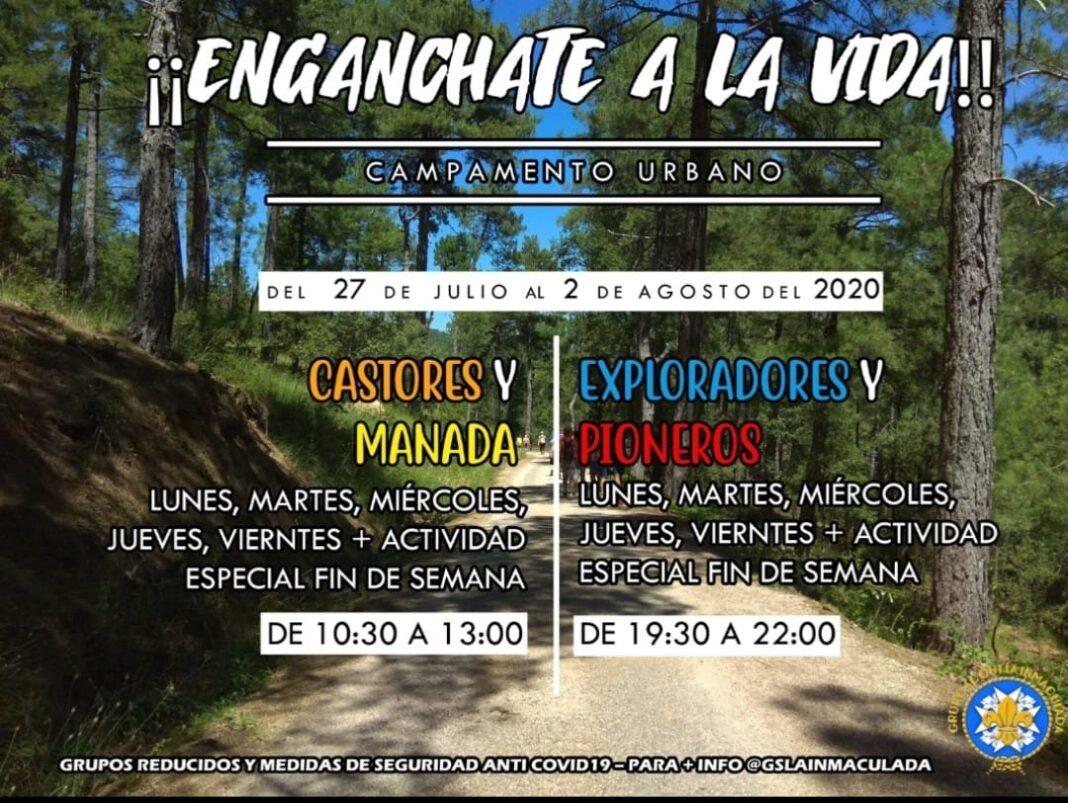 """Campamento urgbano scout 1068x803 - El grupo scout """"La Inmaculada"""" celebrará un campamento de verano urbano"""