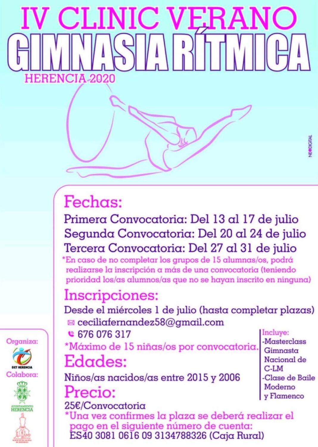 IV Clinic de gimnasia rítmica de Herencia 1068x1497 - Abiertas las inscripciones para el IV Clinic de Gimnasia Rítmica de Herencia