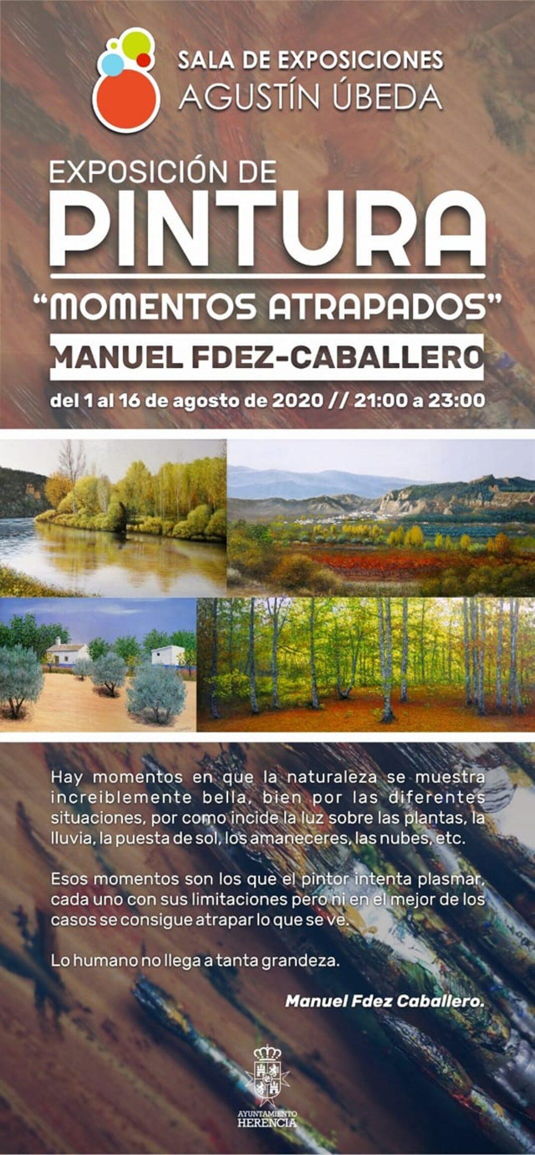 """Momentos aptrapados Exposición de Manuel Fdez Caballero 1068x2305 - """"Momentos atrapados"""", exposición de pintura de Manuel Fdez-Caballero en Herencia"""