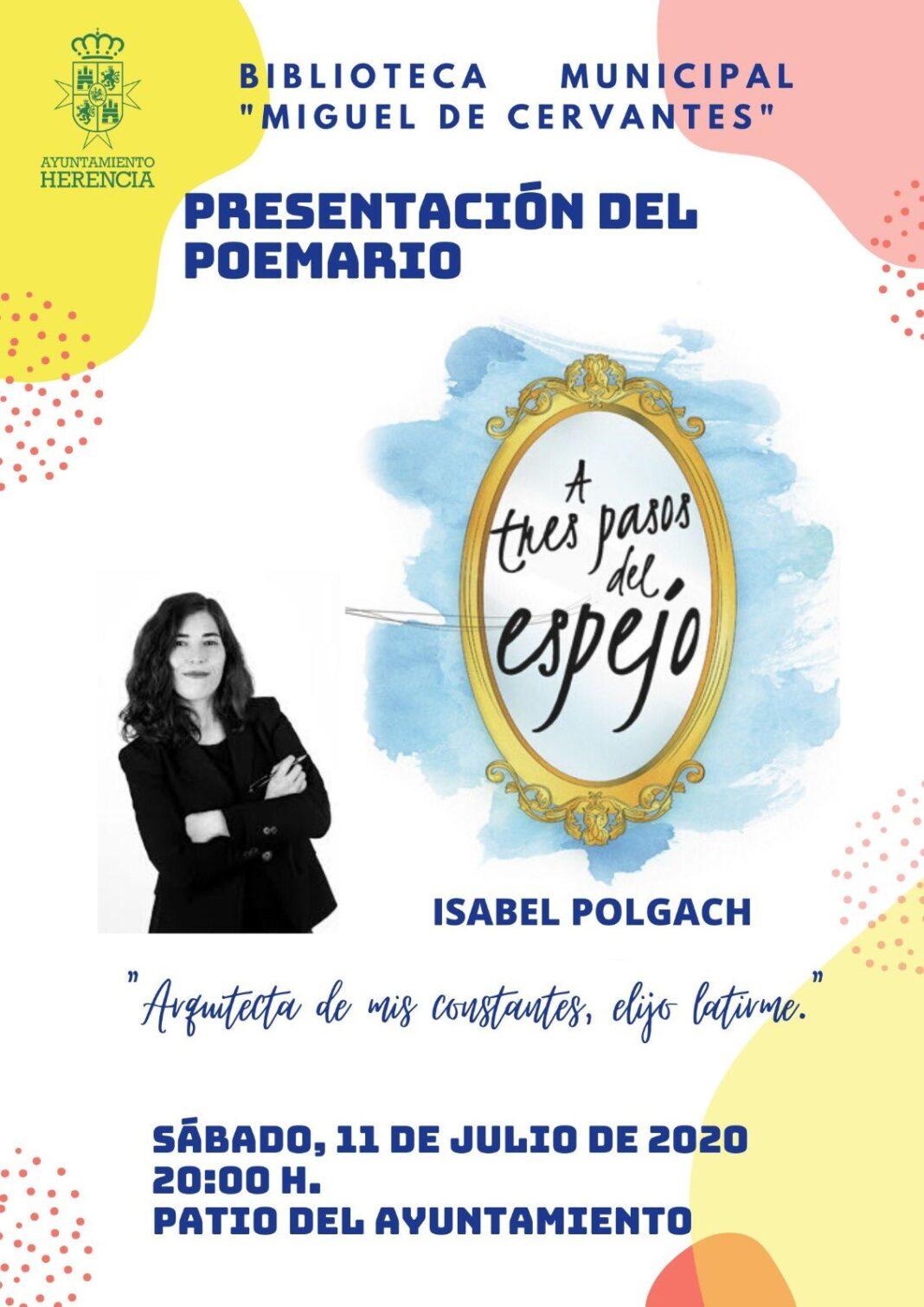 """Presentación del poemario A tres pasos del Espejo 1068x1511 - Isabel Polgach presenta su poemario """"A tres pasos del espejo"""""""