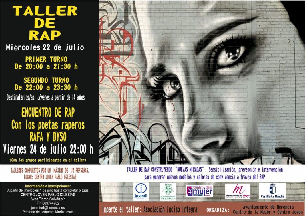 Taller de Rap Juventud 1068x757 - Juventud y el Centro de la Mujer preparan talleres de rap para sensibilizar a jóvenes en valores de igualdad