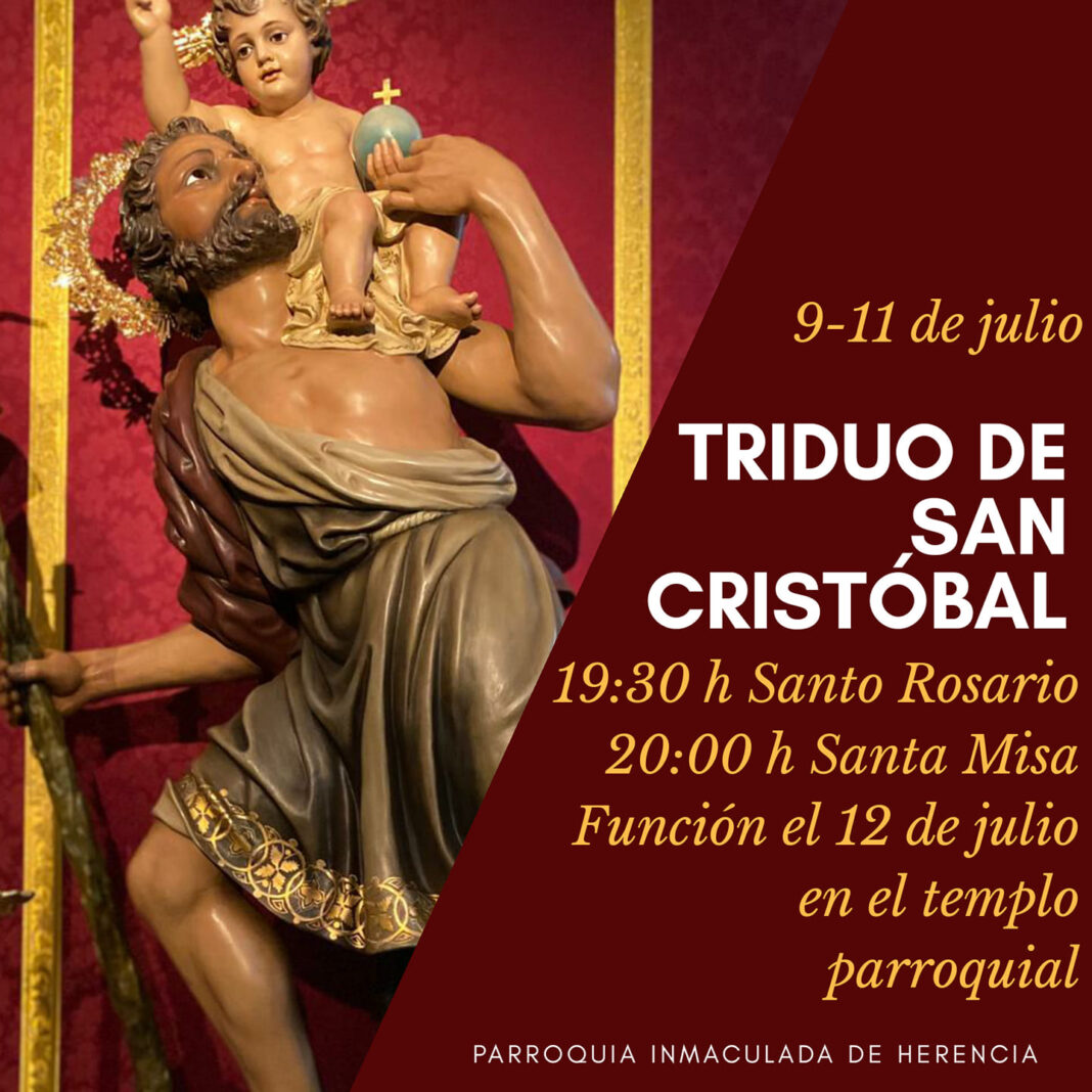 Triduo en honor a San Cristóbal en la parroquia de Herencia 1