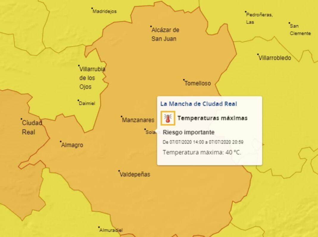 aviso naranja altas temperaturas 7 julio 2020 1068x798 - Alerta naranja por altas temperaturas en Herencia y alrededores