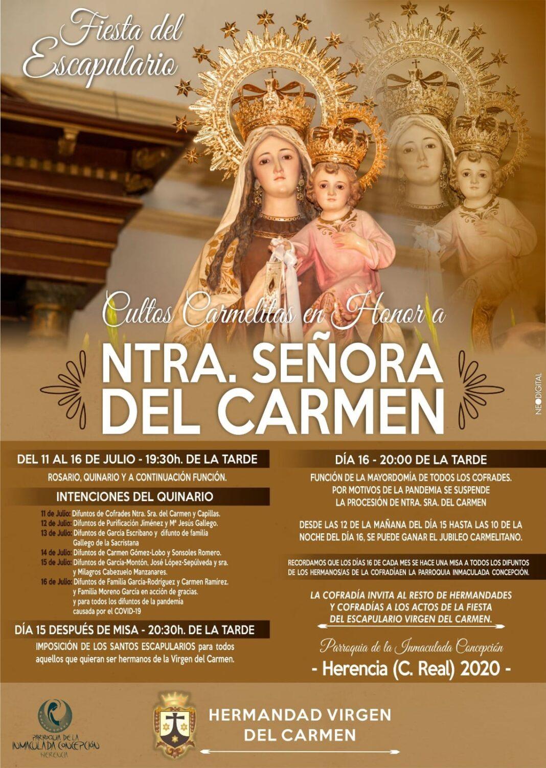 Actos religiosos de la festividad de Nuestra Señora del Carmen 1