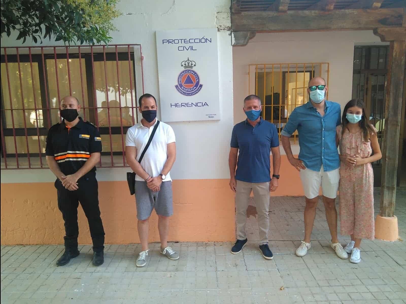inauguracion nueva sede proteccion civil herencia 3 - La Agrupación de Voluntarios de Protección Civil inauguró su nueva sede local
