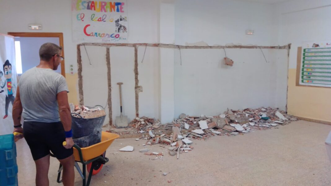 Obras en el Colegio Carrasco Alcalde antes del nuevo curso 1