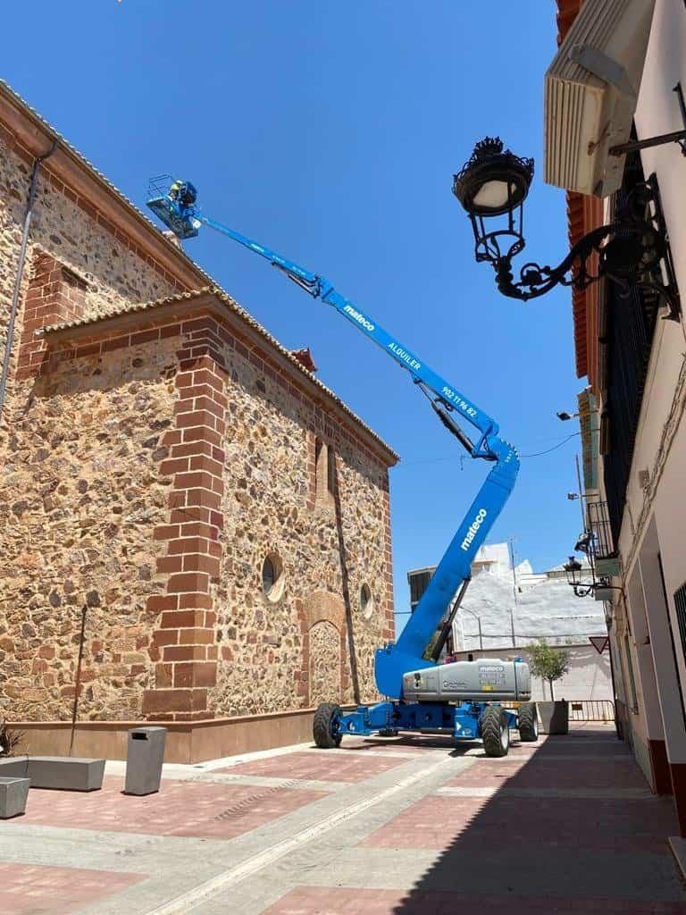 parroquia herencia sistema antipalomas - Protegiendo el patrimonio con un sistema antipalomas en la Parroquia de Herencia
