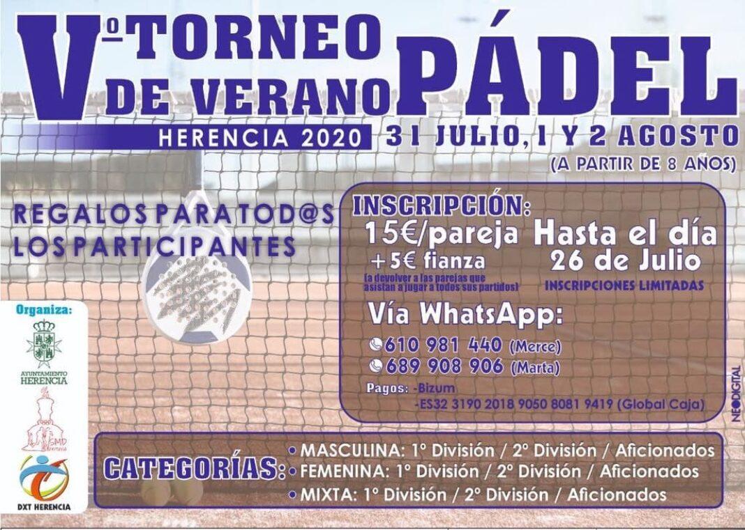 V Torneo de Pádel de Verano en Herencia 4