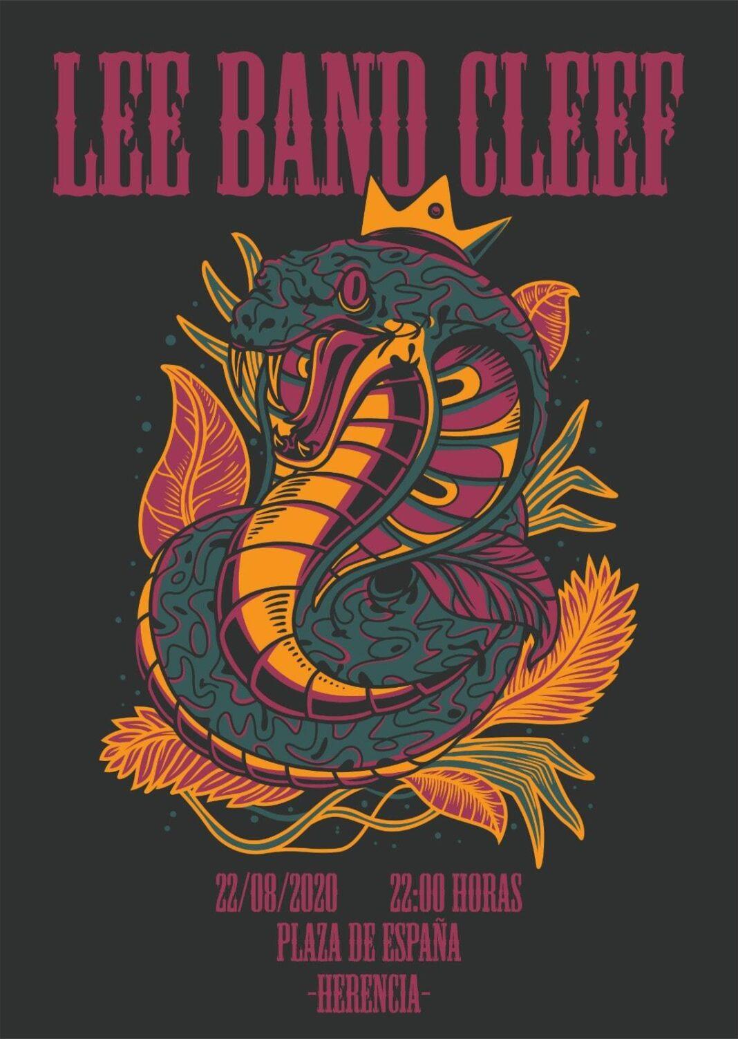 Lee Band Cleef 1068x1503 - Lee Band Cleef actuará por primera vez en directo en Herencia