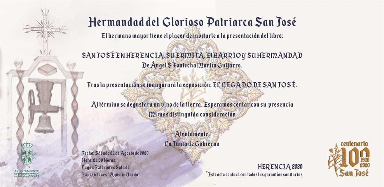"""San jose en Herencia libro - Presentación del libro """"San José en Herencia: su ermita, el barrio y la hermandad"""""""