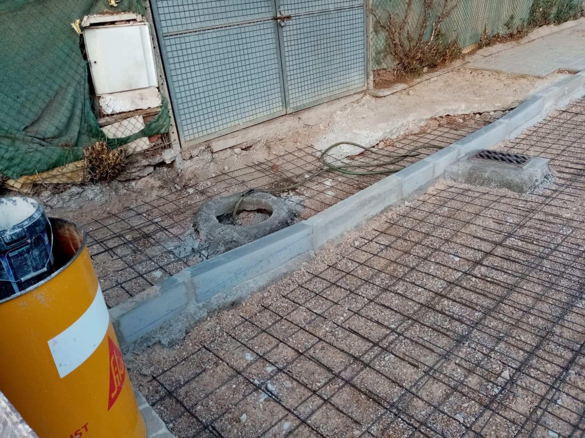Arreglado el hundimiento de vía en el Barrio de San José 8