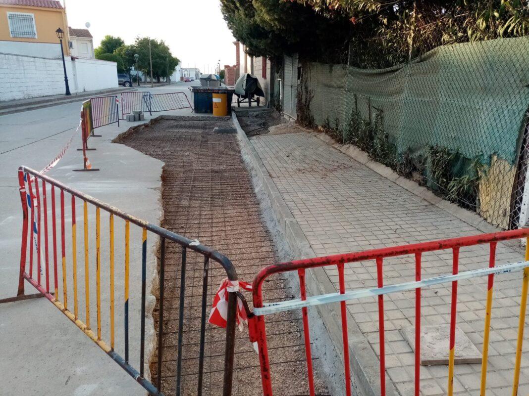 arreglo obras hundimiento herencia calles 3 1068x801 - Arreglado el hundimiento de vía en el Barrio de San José