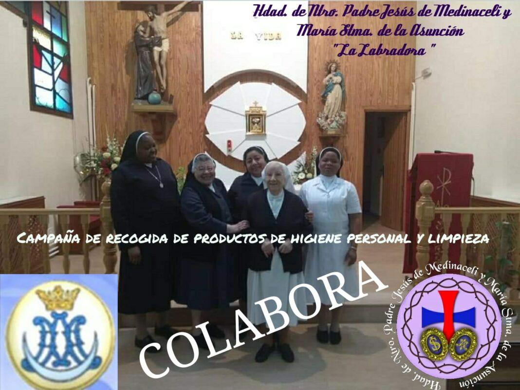 campaña de recogida de productos de higiene para el asio 1068x801 - La hermandad de Medinaceli y la Asunción inician una campaña de recogida de productos de higiene y limpieza