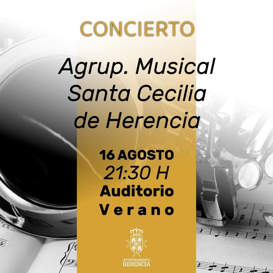 concierto banda de musica de Herencia 1068x1068 - Concierto de la agrupación musical Santa Cecilia en el auditorio de verano