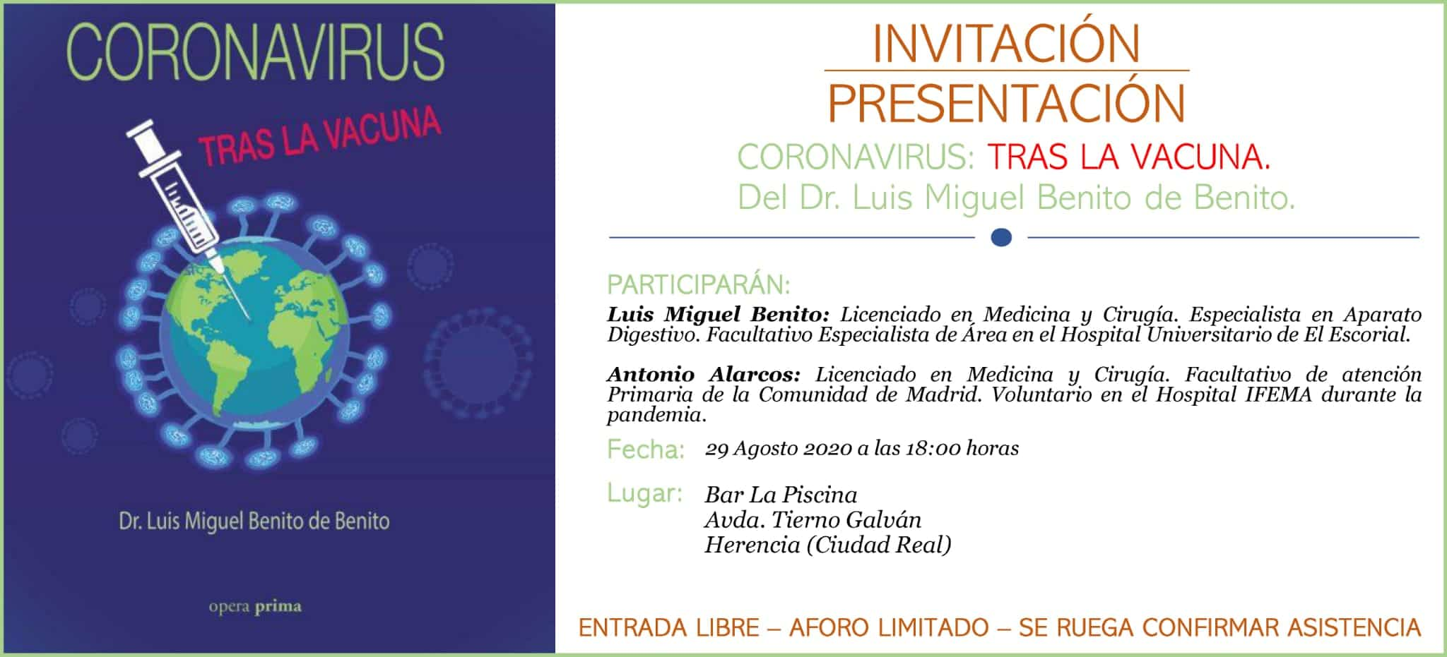"""Presentación del libro """"Coronavirus: Tras la vacuna"""" 3"""