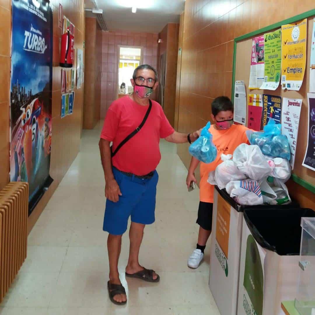 El reto del reciclaje sigue avanzando en el Centro Joven de Herencia 3