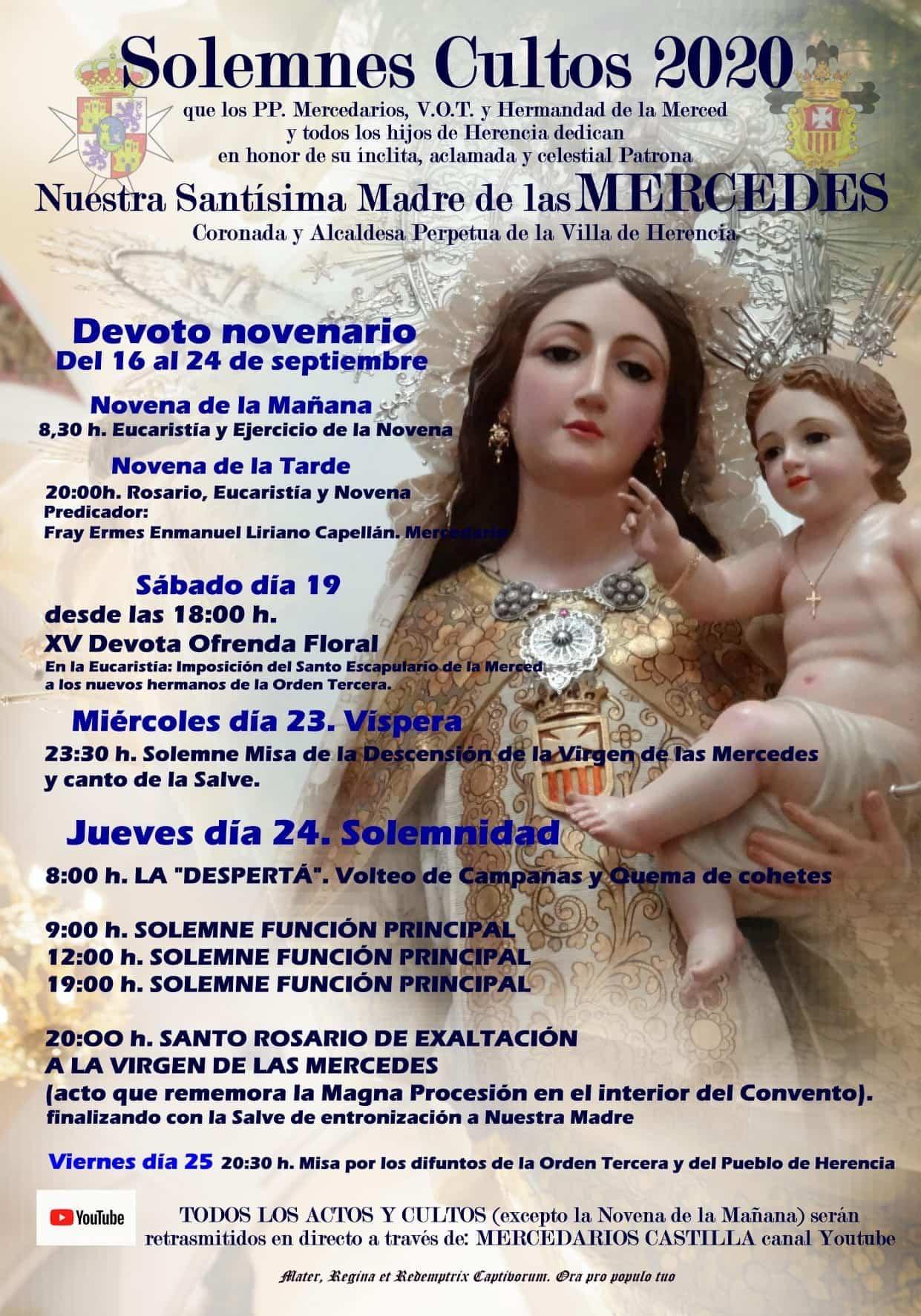 Las fiestas de La Merced de Herencia solo mantiene sus actos religiosos 3
