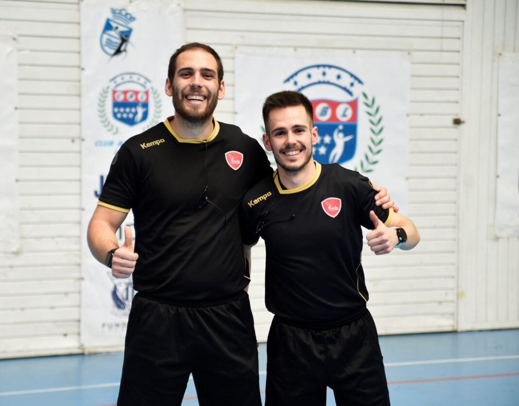 Luis Diaz Flores a la derecha 1068x837 - Luís Díaz-Flores podrá arbitrar en la División de Honor Plata de balonmano