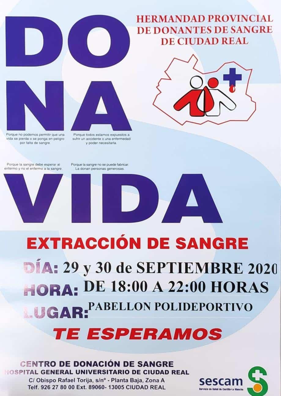 campana donacion de sangre en Herencia - Jornadas de donación de sangre los días 29 y 30 de septiembre en Herencia