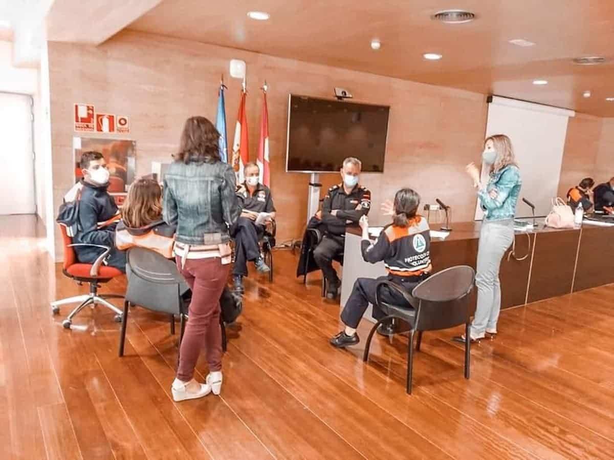 formacion proteccion civil herencia 1 - Protección Civil de Herencia continua su formación para mejorar su servicio