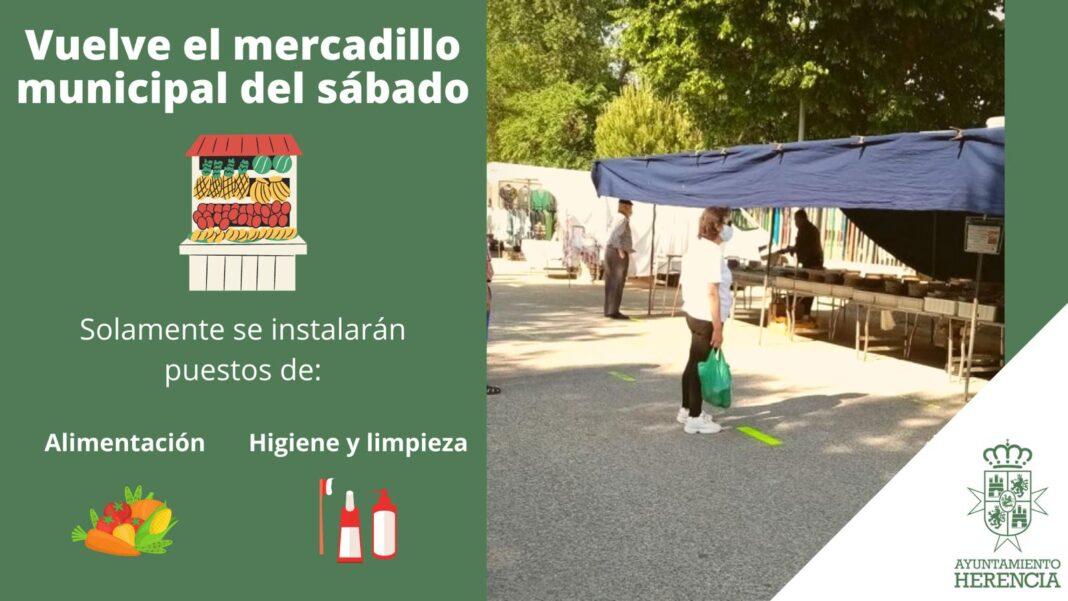El mercadillo de Herencia abrirá para puestos de primera necesidad 1