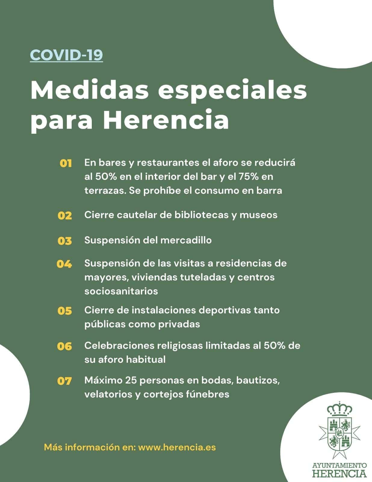 Resumen de las medidas especiales contra el Covid-19 en Herencia 3