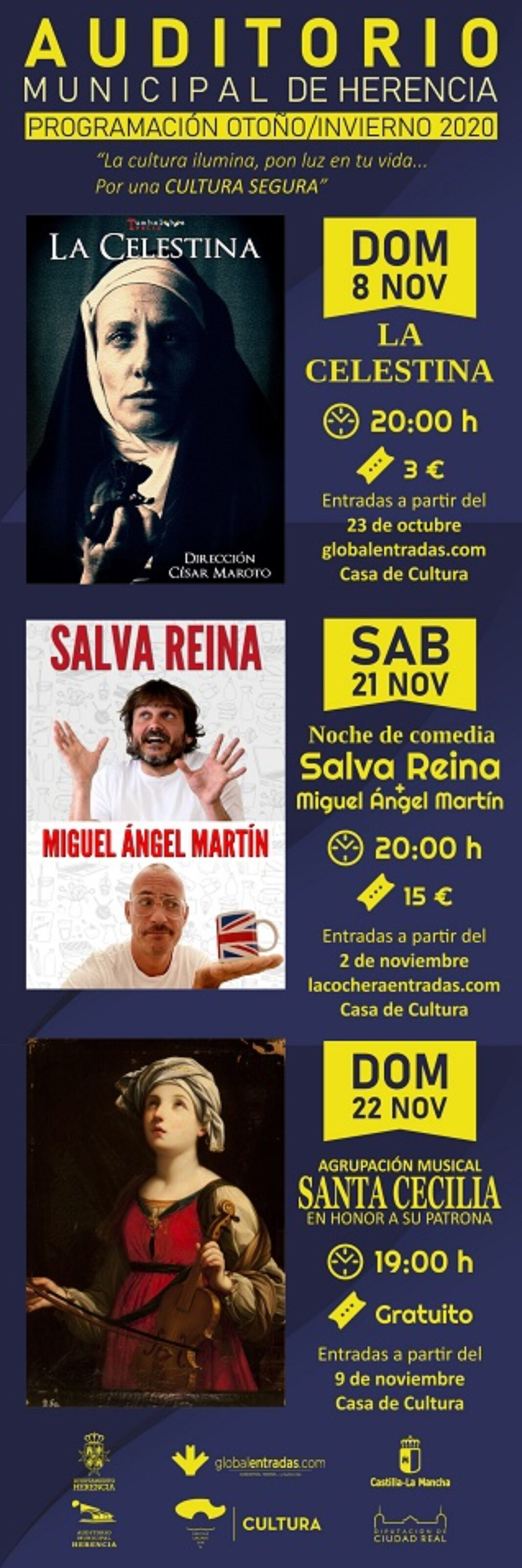 Auditorio noviembre 2020 def 1068x3207 - El auditorio de Herencia retoma su actividad cultural