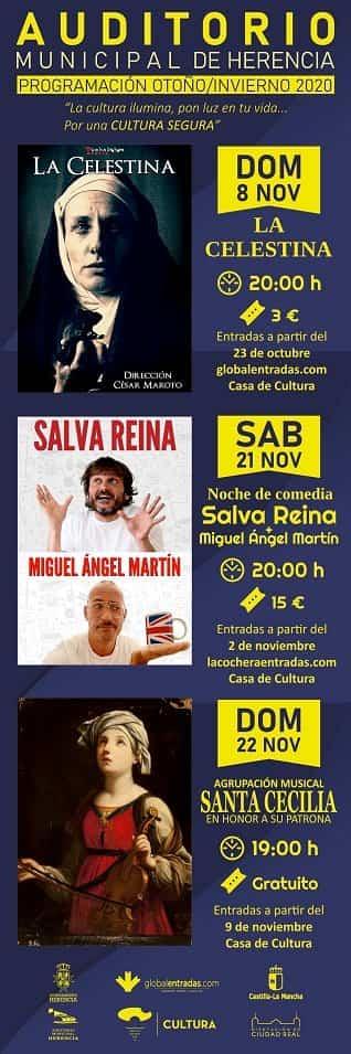 Auditorio noviembre 2020 def - El auditorio de Herencia retoma su actividad cultural