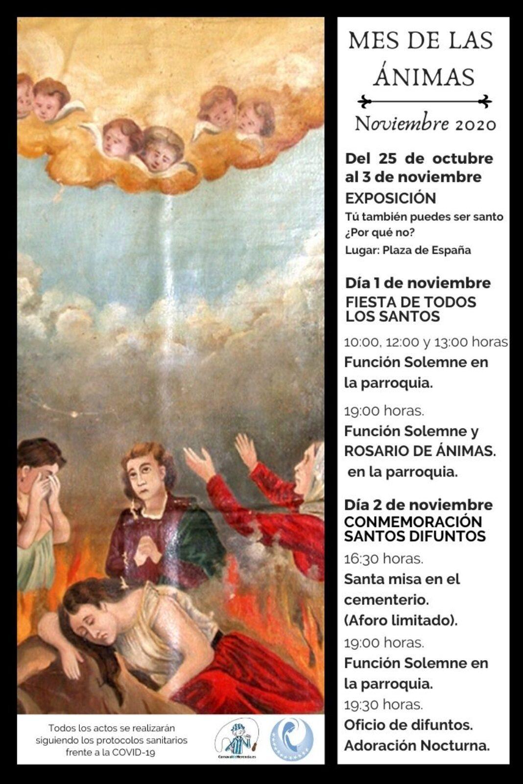Copia de Mes de las animas2020 1068x1601 - Celebración del Rosario de Ánimas y otras actividades del mes de las ánimas en Herencia