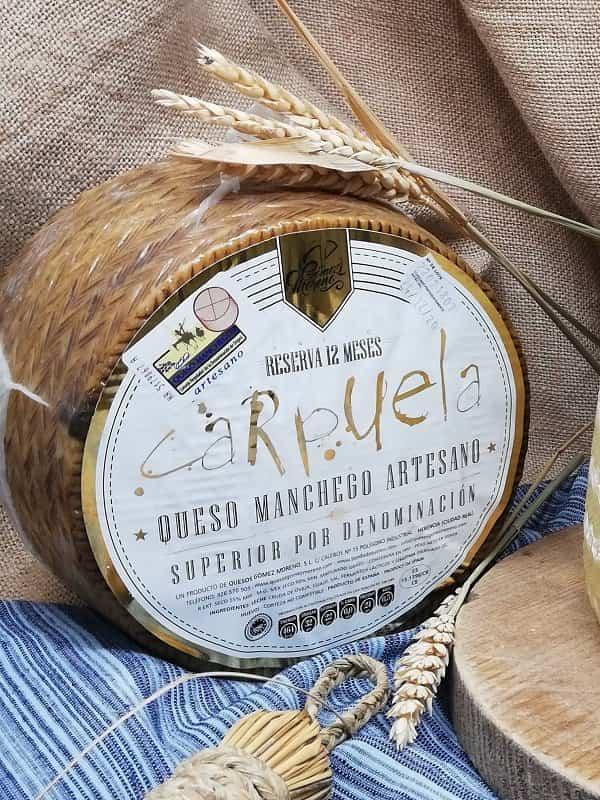 Queso Manchego Reserva de 12 meses Carpuela - Quesos Gómez Moreno premiado en los Great Taste Awards 2020