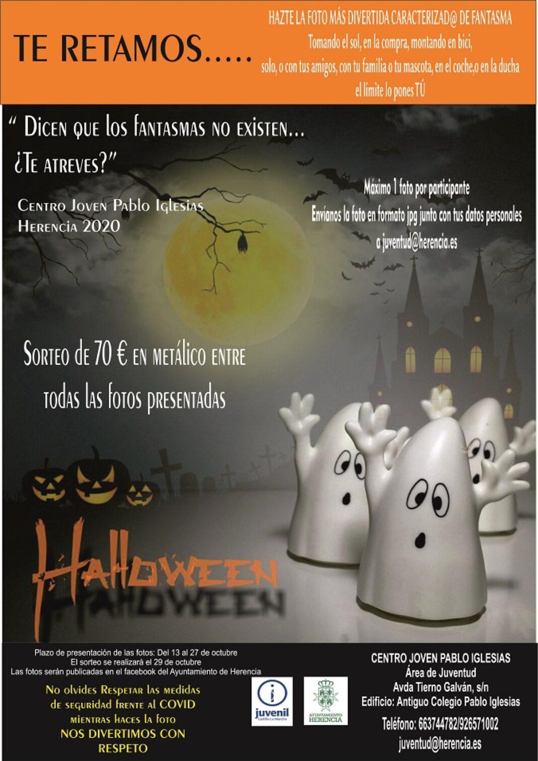 Juventud organiza un concurso de fotografía de disfraces de fantasmas 1