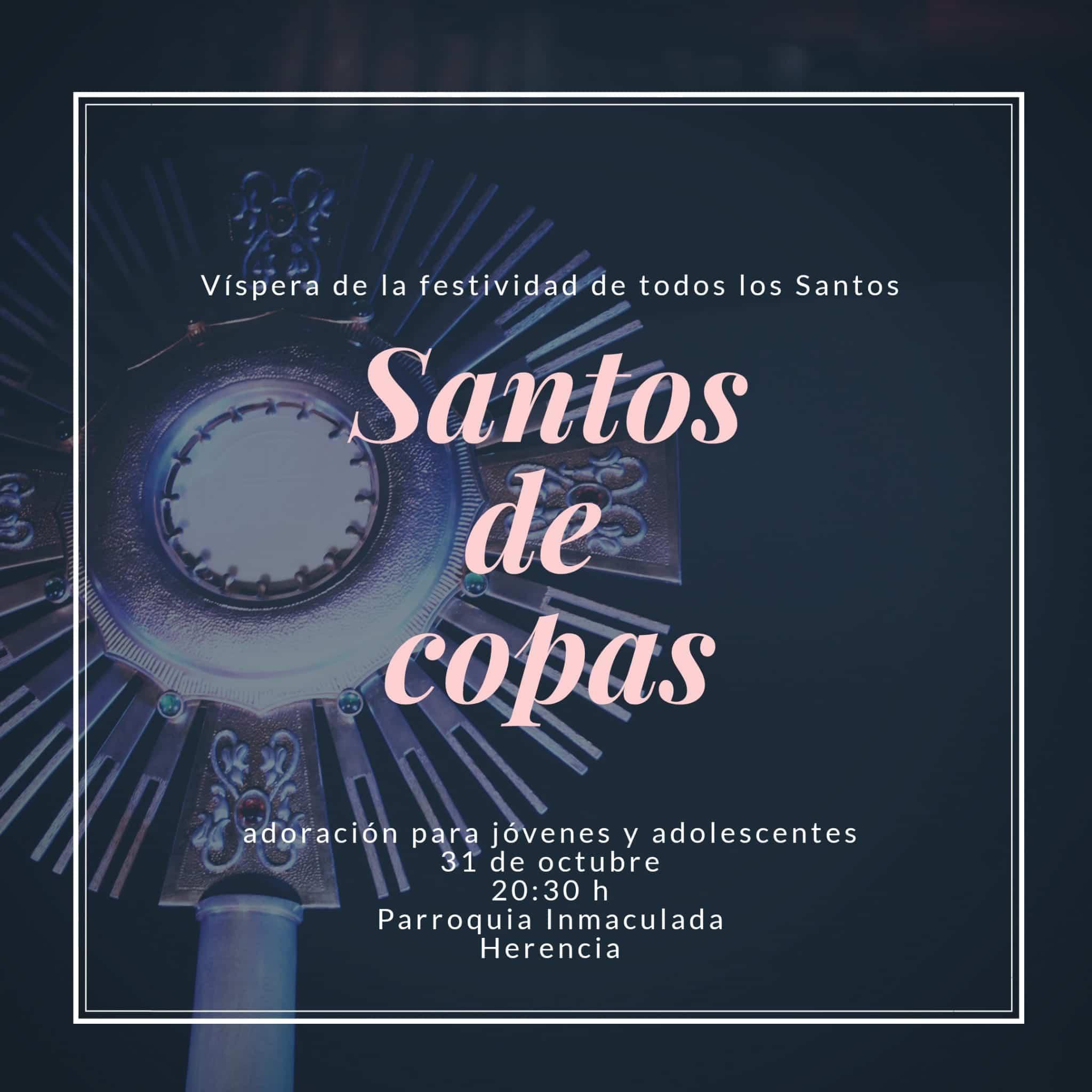 SANTOS DE COPAS EN LA PARROQUIA - Celebración del Rosario de Ánimas y otras actividades del mes de las ánimas en Herencia