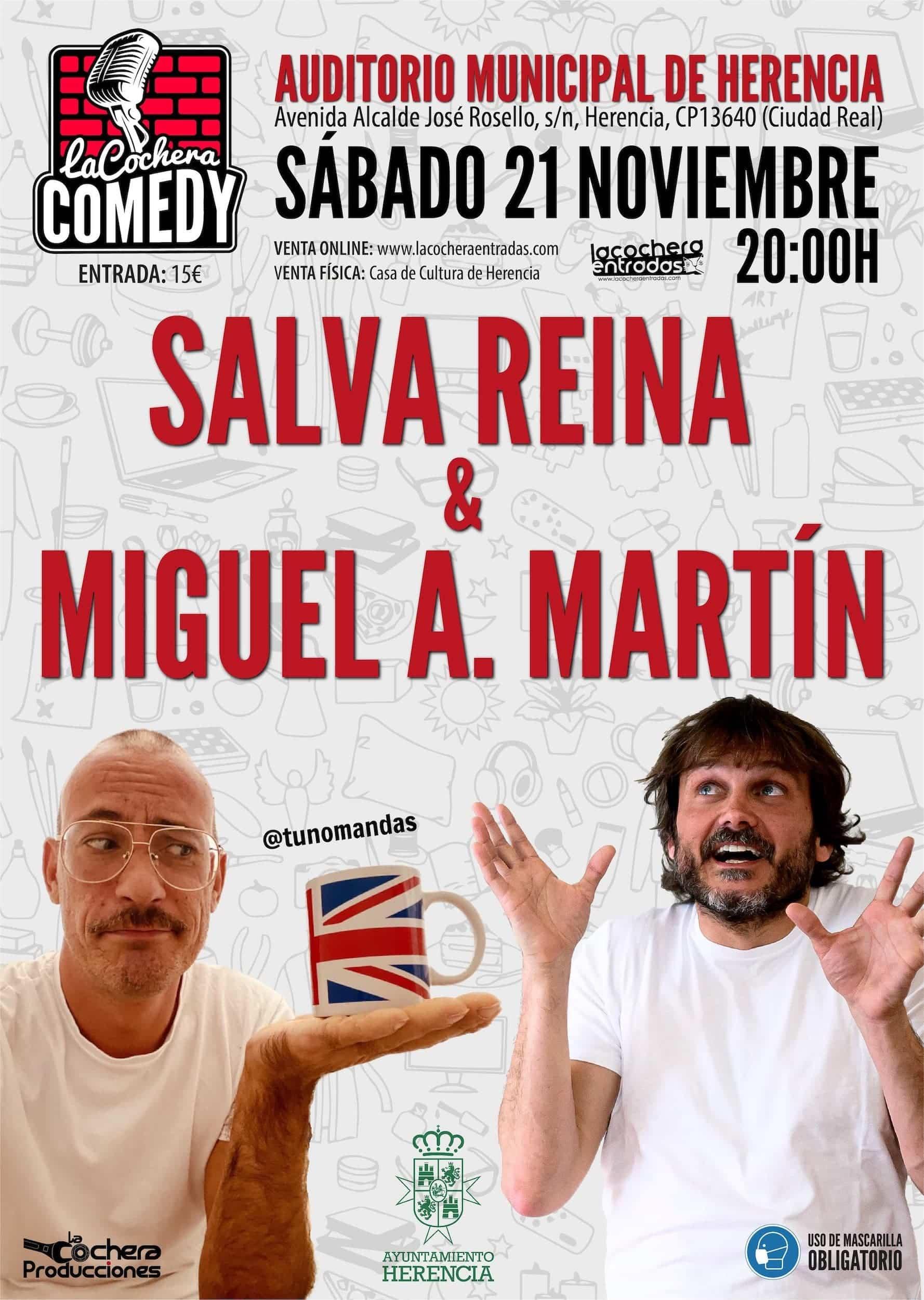 Salva Reina y Miguel Ángel Martín actuarán en el Auditorio Municipal de Herencia 3