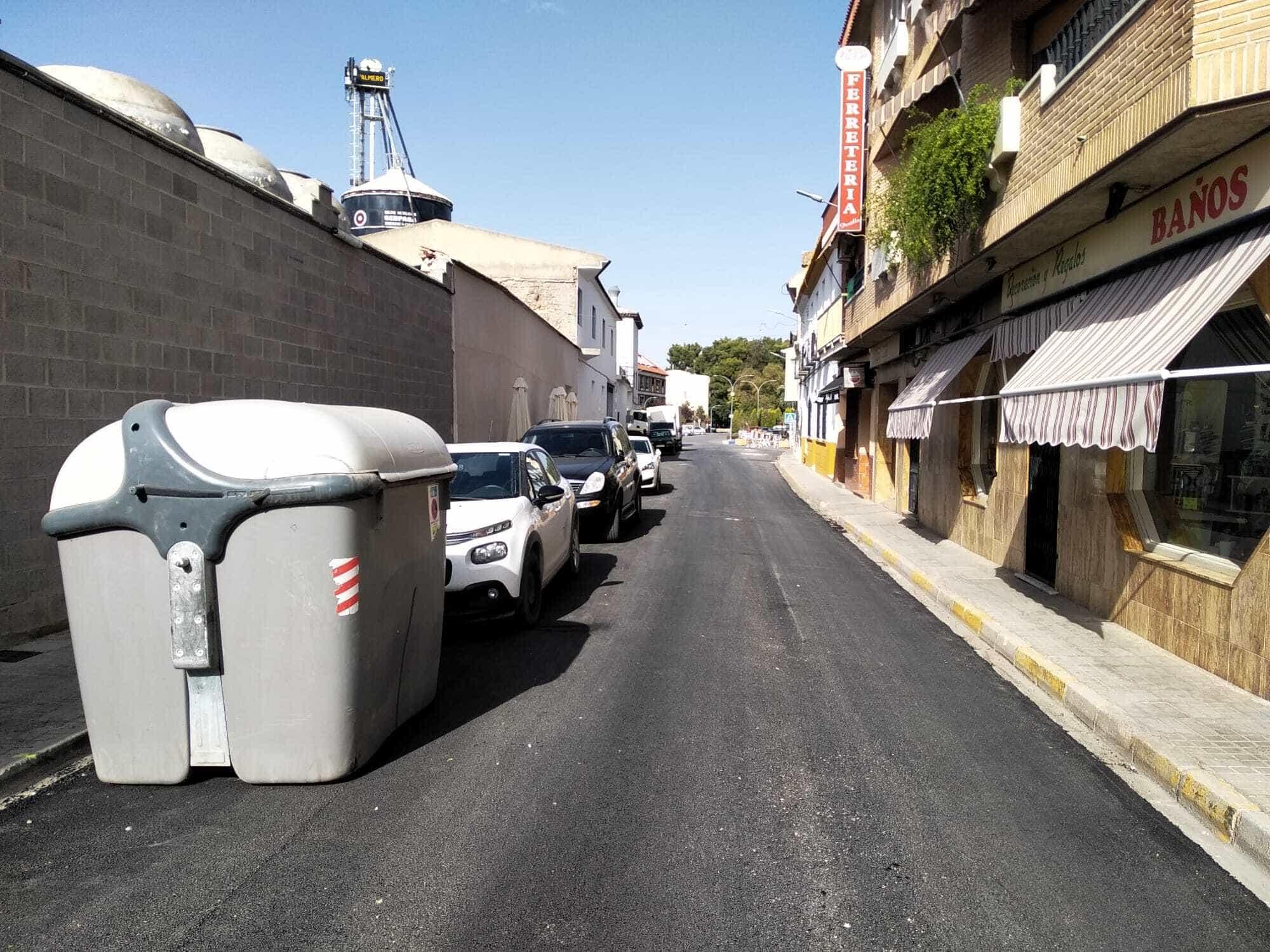El plan de asfaltado de Herencia completa el acondicionamiento de la Calle Mesones 12