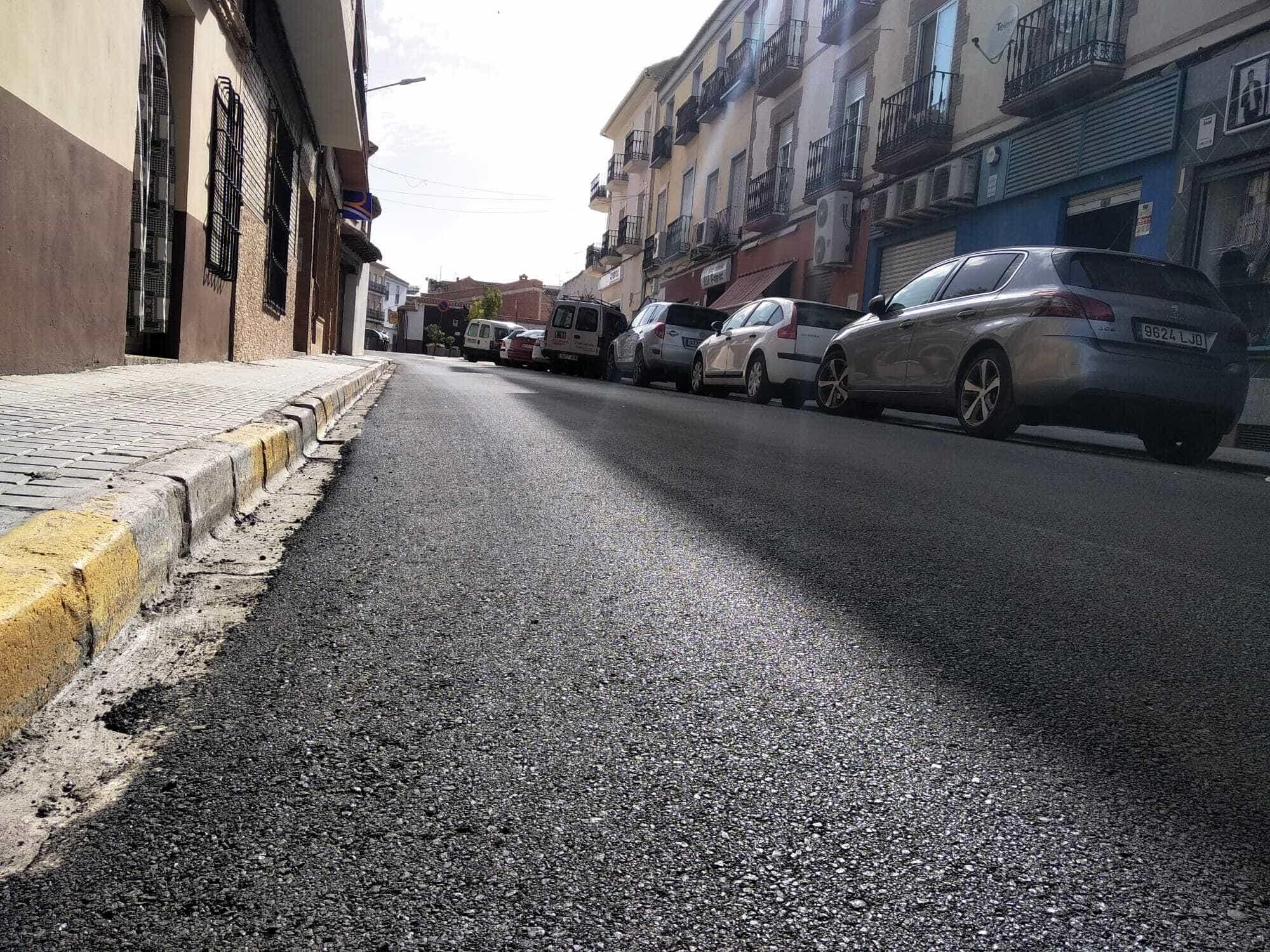 El plan de asfaltado de Herencia completa el acondicionamiento de la Calle Mesones 10