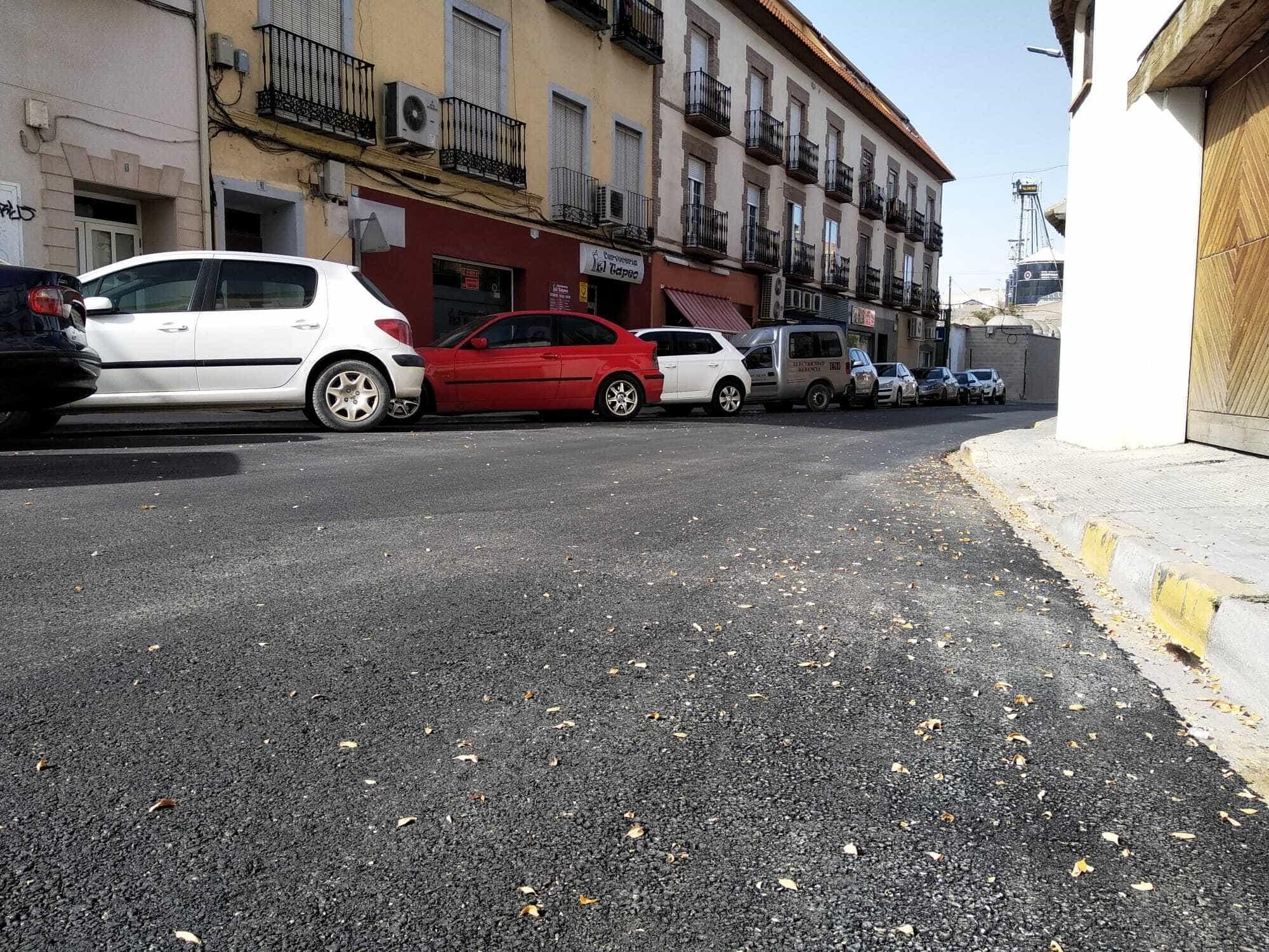 El plan de asfaltado de Herencia completa el acondicionamiento de la Calle Mesones 11