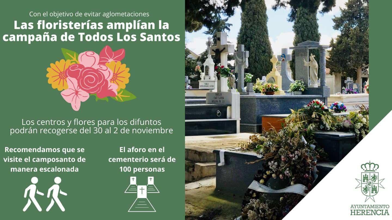 cementerio dia santos 2020 covid 19 - Herencia se prepara el Día de Todos los Santos con limitaciones de aforo en el cementerio