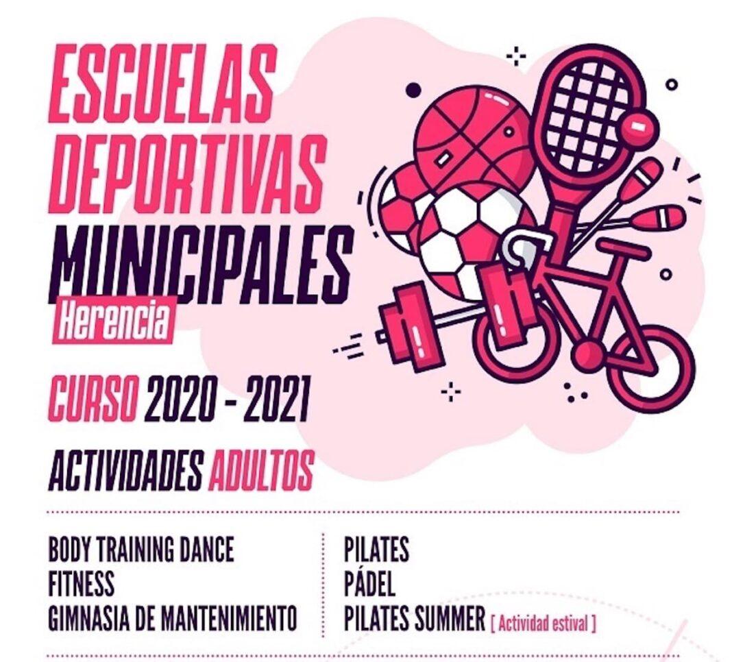 escuelas deportivas adultos herencia covid 19 1068x966 - Nueva temporada segura de las actividades para adultos de las Escuelas Deportivas de Herencia