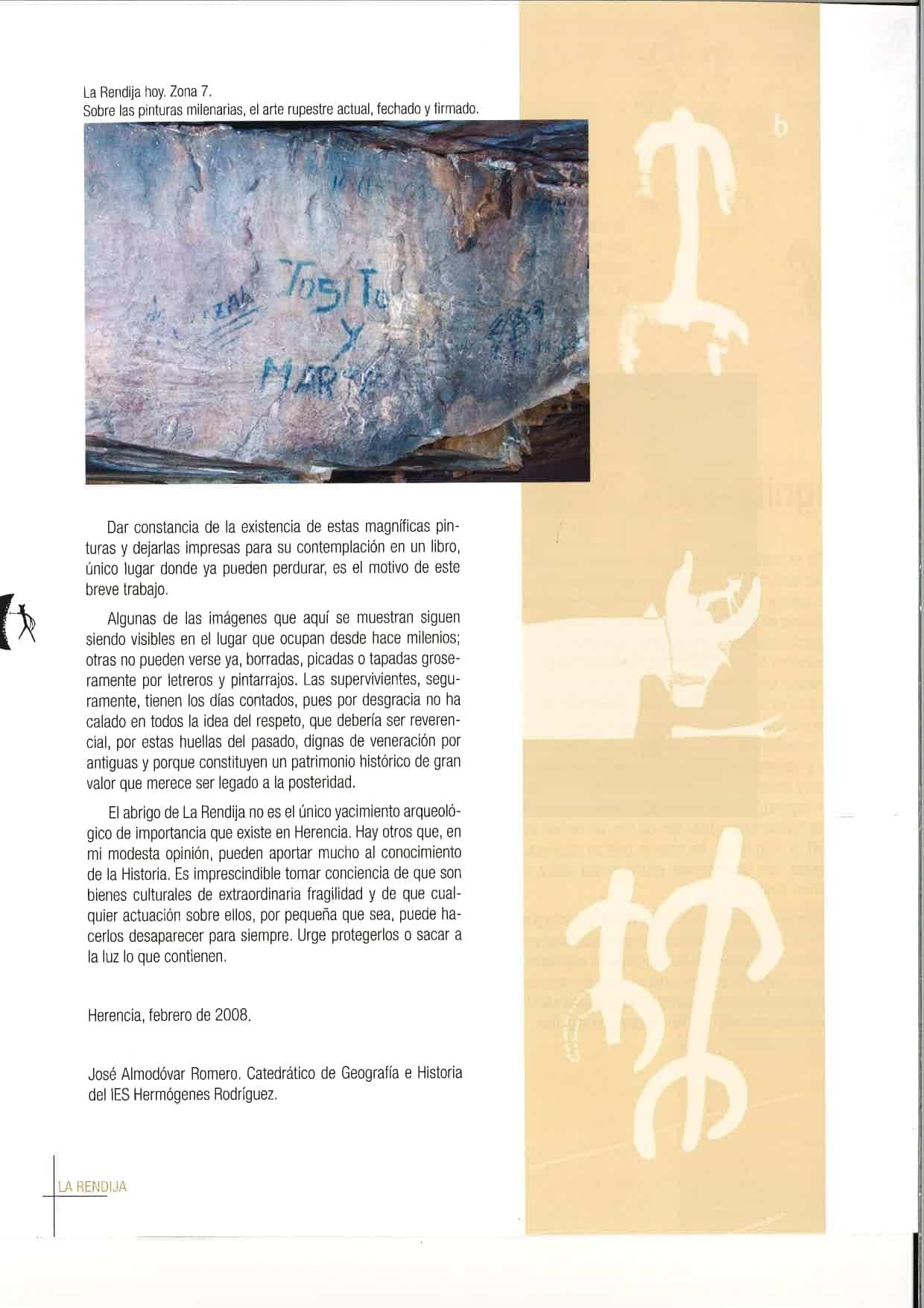 """Herencia celebró el Día Europeo del Arte Rupestre con """"La Rendija"""" 70"""