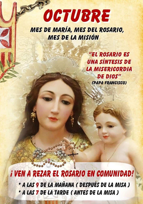 octubre mes del rosario en el convento - Octubre, mes dedicado al rosario y las misiones en el templo parroquial y el convento